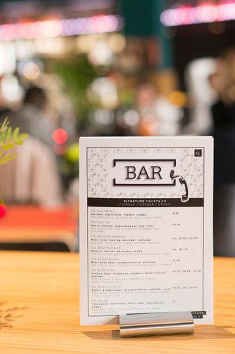 menukaart Bar Kantoor