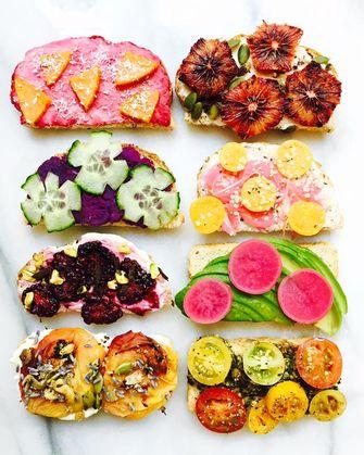 kleurrijke toast