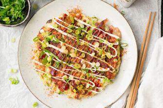 okonomiyaki hartige pannenkoek uit japen