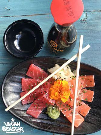 Vegan sashimi en sushi