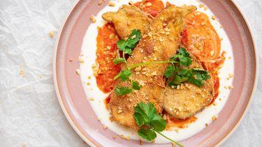 Krokante aubergines Peruaans recept