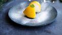 gevulde citroen met Prosecco-sorbet