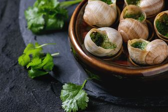 Normandie escargots stock