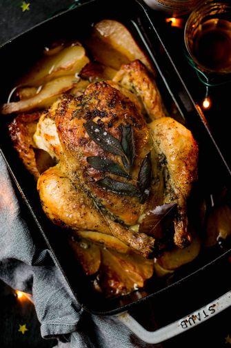 gebraden kip met salie kerst