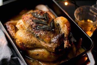 gebraden kip voor Kerst