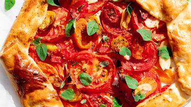 Hartige galette met tomaten