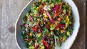 Afbeelding van vegan regenboogsalade voor gerechten die je warm en koud kunt eten