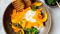Salade van burrata en pompoen