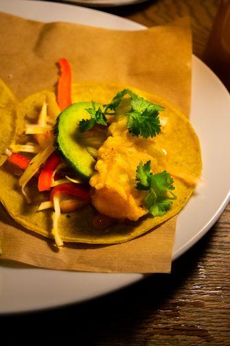 fish taco bij Celia Amsterdam
