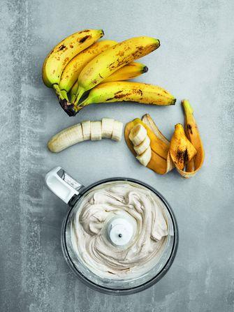 IJs van overrijpe bananen