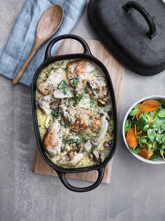Kip met aardpeer recept