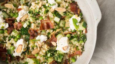 salade van parelcouscous met bacon