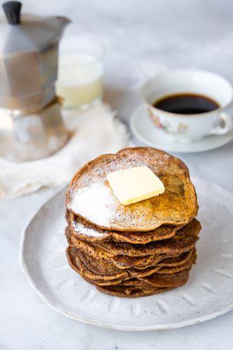 koffiepannenkoeken voor het ontbijt