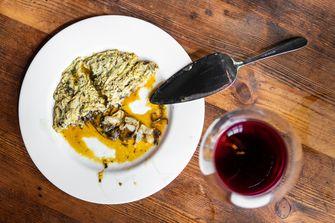 Baskische omelet bij Sagardi