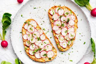 Toast met radijsjes en zoute boter