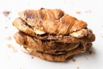 makkelijke croissants nutella banaan
