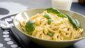simpele pasta met citroen en kip