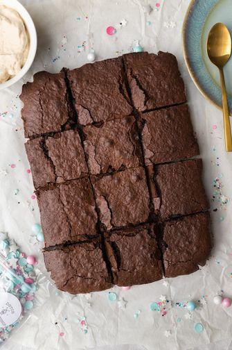 verjaardags brownies