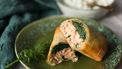 zalm & spinazie wraps in filodeeg