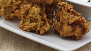 Uien bhaji uit de Indiase keuken