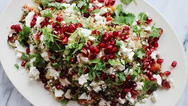 quinoa salade met granaatappelpitjes