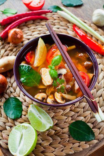 Kaffir limoenblad soep