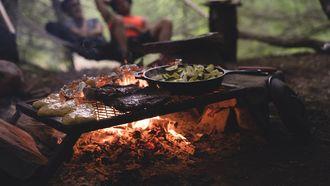 koken op de camping
