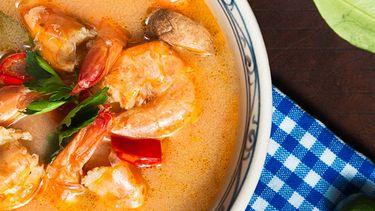 soep zonder koolhydraten met garnalen