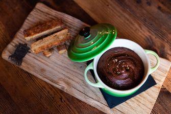Chocolademousse bij Sagardi