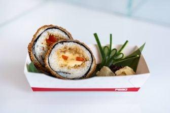 Kaassouflé sushi van Taiko en FEBO