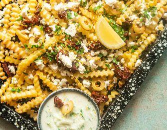 Griekse friet met feta