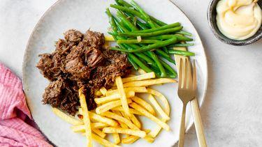 Vlaams stoofvlees met friet