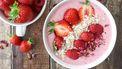 smoothiebowl met aardbeien