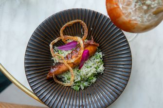 Octopus met rijst
