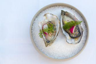 oesters met radijs duizendblad