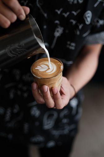Flat white koffie