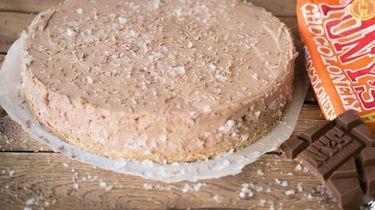 No-bake cheesecake met Tony's Chocolonely