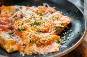 Pasta met wild zwijn bij Piero's