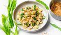 Gnocchi met roergebakken witte asperges en daslook