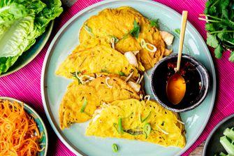 Vietnamese pannenkoek recept: Banh Xeo