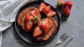 Vegan wentelteefjes met aardbeien