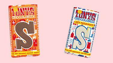 melk-karamel-zeezout letterreep Tony's Chocolonely
