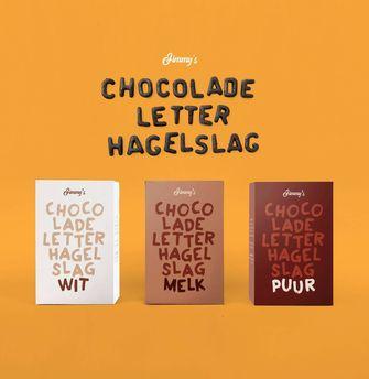 Chocoladeletterhagelslag voor Sinterklaas
