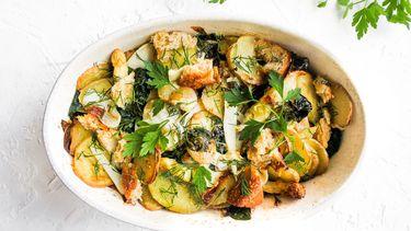 lentegratin met aardappel en asperge