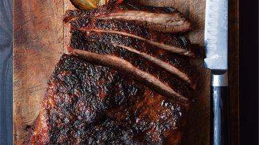 Brisket van de barbecue