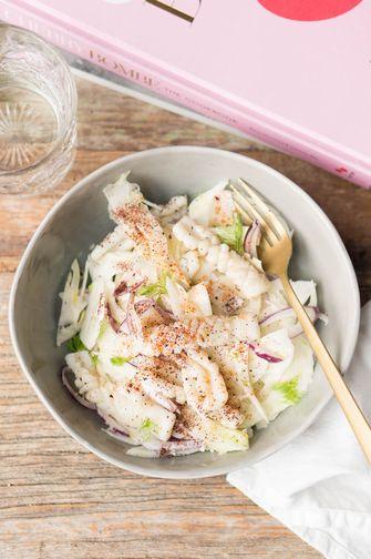 salade met inktvis en venkel