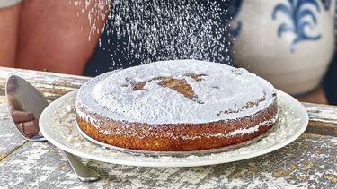 torta de santiago (amandeltaart met Limoncello)