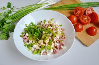 Salade met cottage cheese