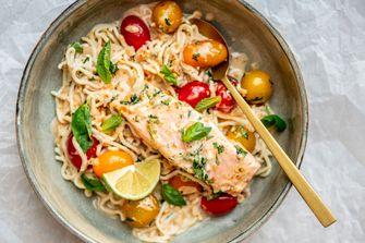 Curry met zalm en tomaat voor snelle recepten