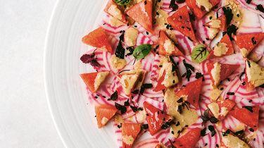Watermeloensalade uit Vega Feest